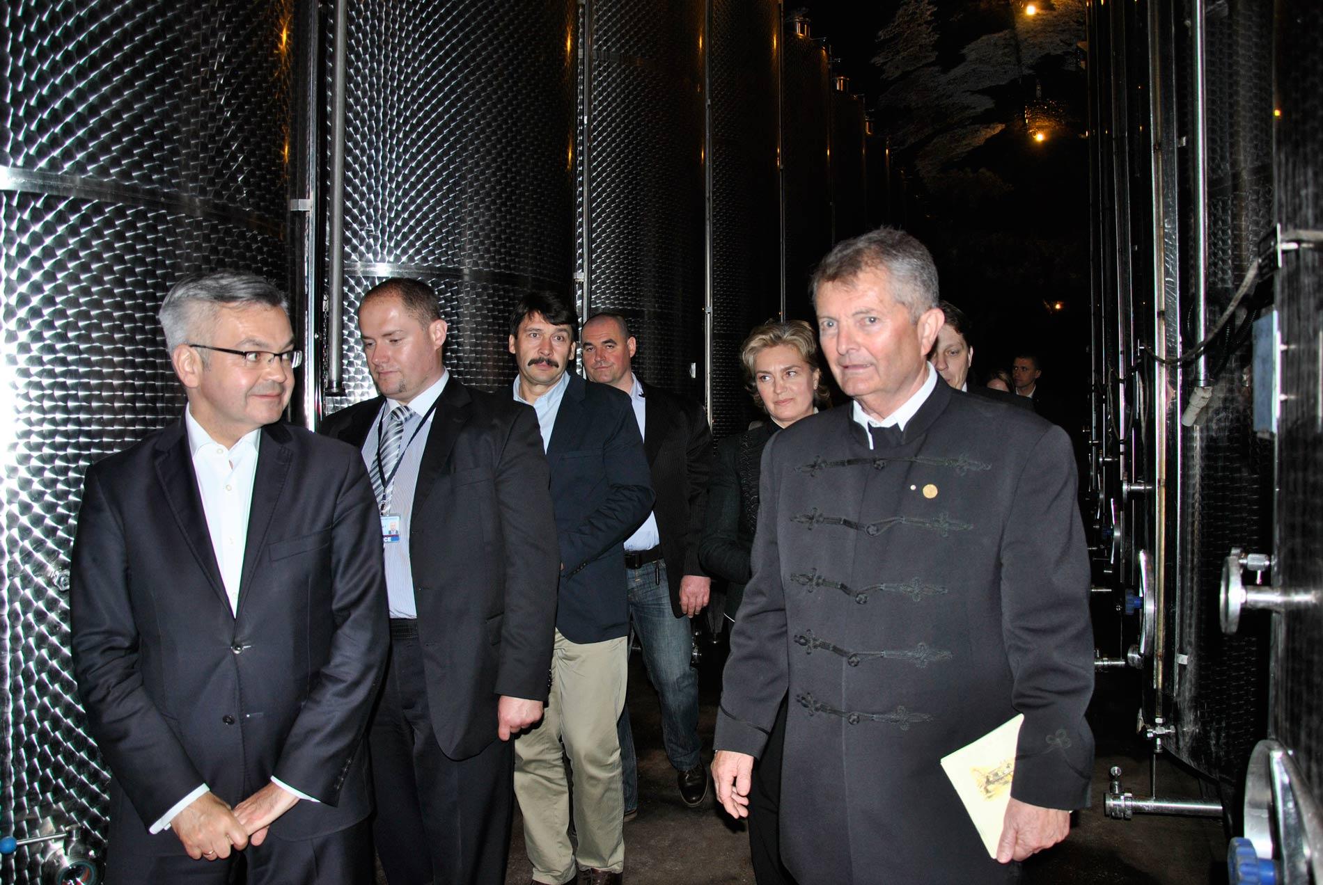 A Thummerer Pincében a lengyel és a magyar köztársasági elnök