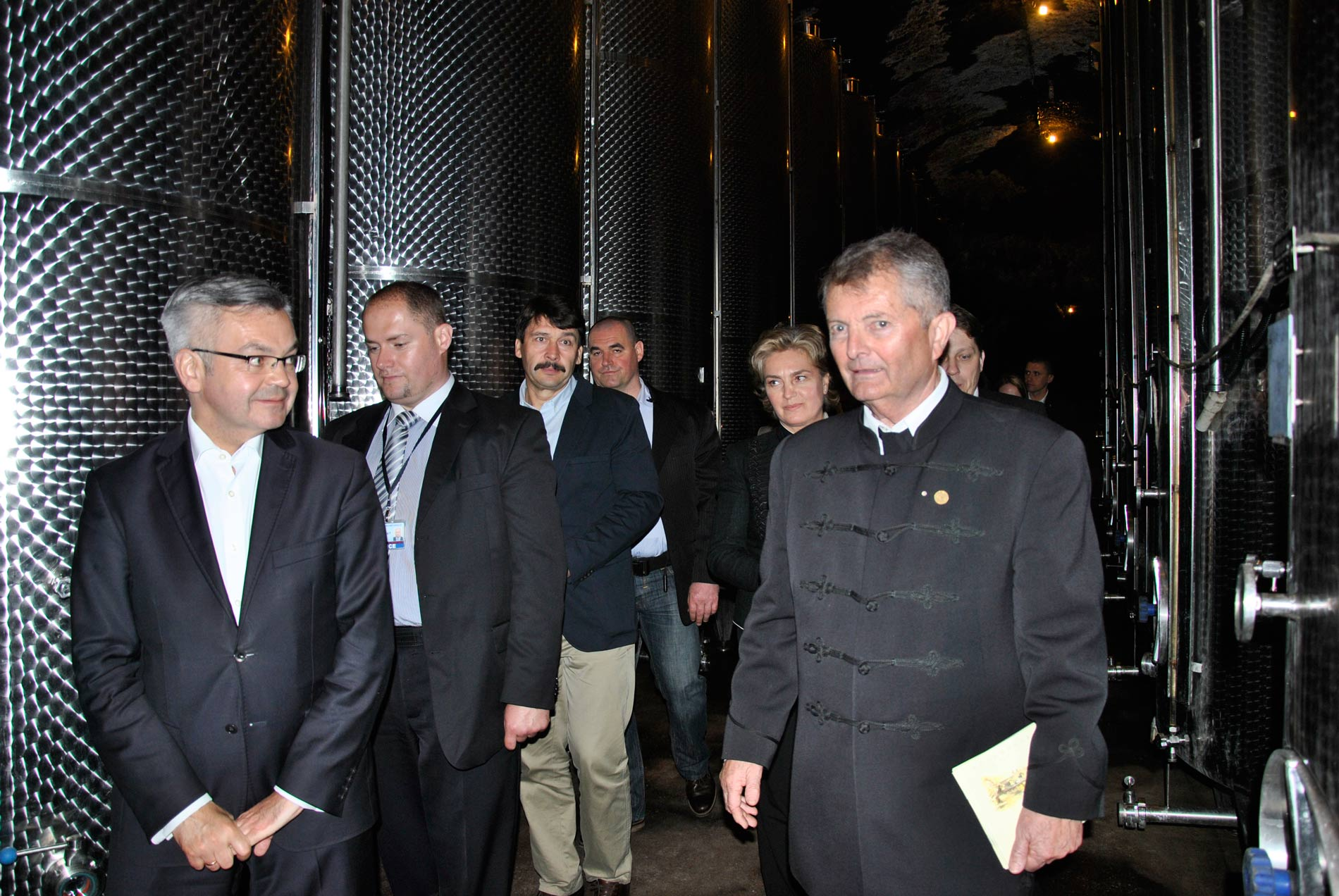 The President of Polish Republic and the President of Hungarian Republic in Thummerer Winery