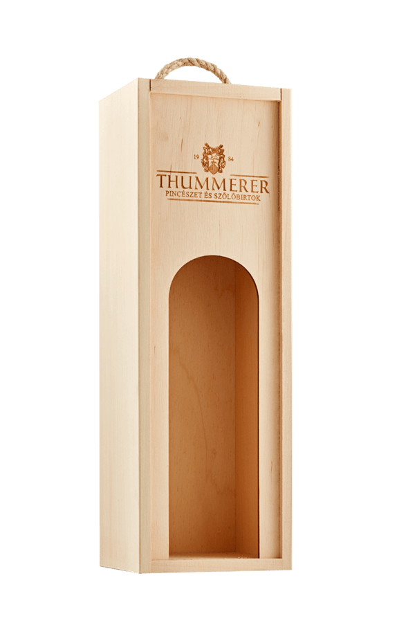 1 champagne in wooden box